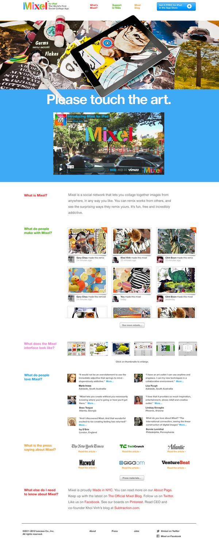 Mixel website