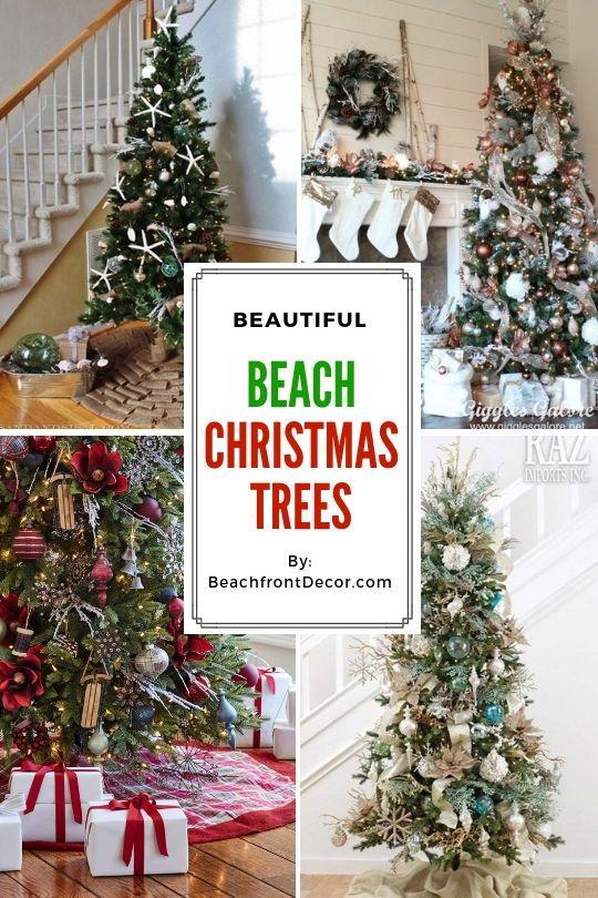 25+ Beach Christmas Tree Ideas Beach Christmas Trees Pinterest