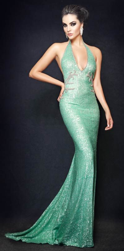 Camille Flawless sea green dress