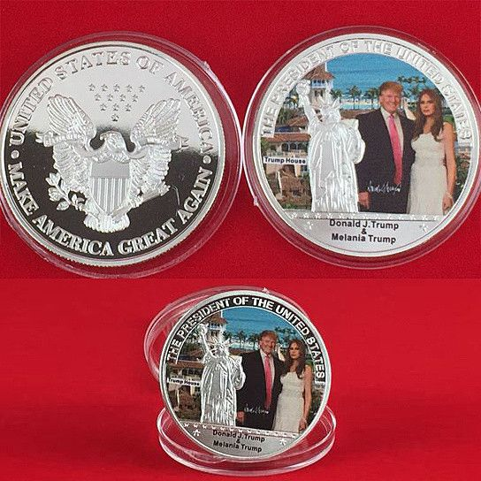 The First Couple Commemorative Coin With Donald And Melania Trump    #NewItems #Home