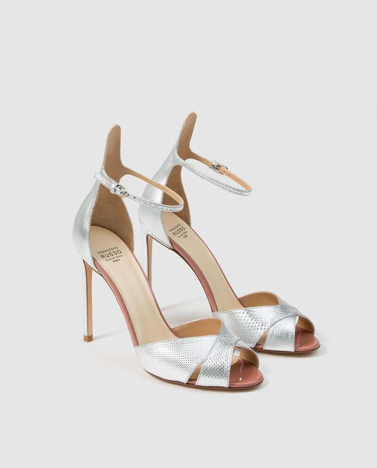 Sandalias de tacón de mujer Francesco Russo de piel en color plata · Francesco Russo · Moda · El Corte Inglés