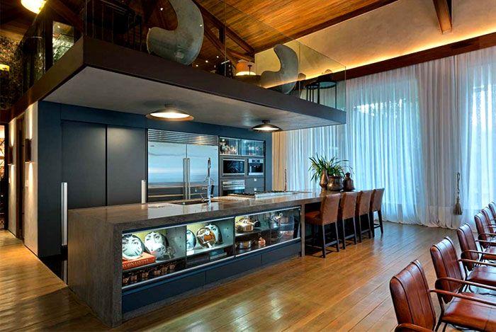 Luxurious Casa Nova Lima with Dramatic Landscape Compositions casa nova lima kitchen