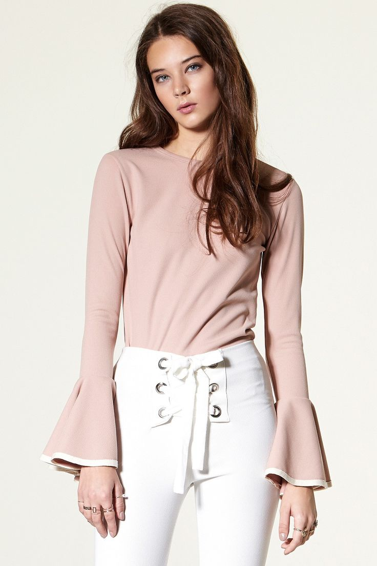 Gwen Wide Cuff Knit Top Discover the latest fashion trends online at storets.com