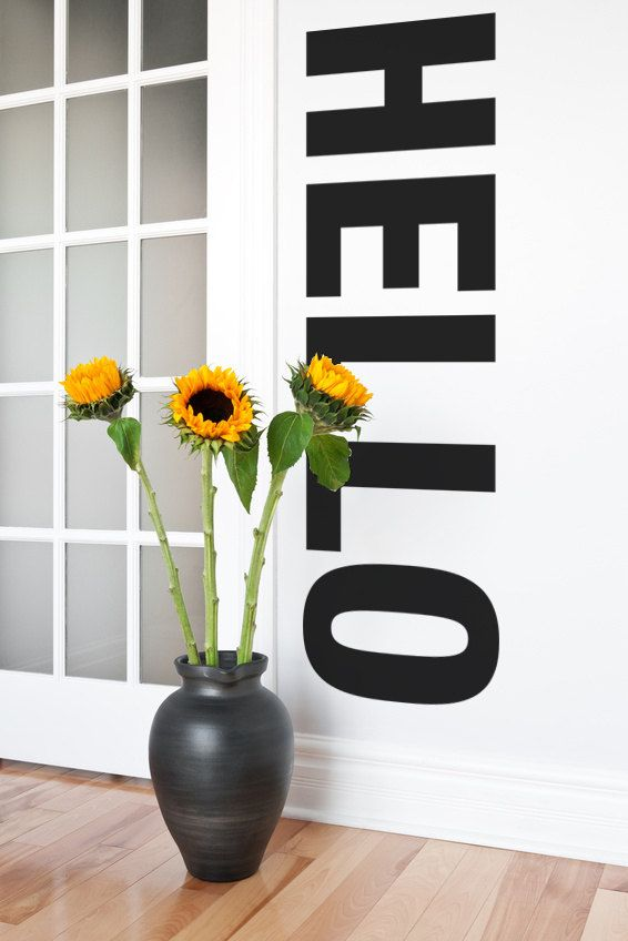 Wall Decal Hello Words Lettering Typography by WallStarGraphics, $50.00