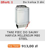 PIEC DO SAUNY HARVIA MILLENIUM M80 STEEL -