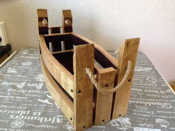 Reclaimed wine barrel wood basket