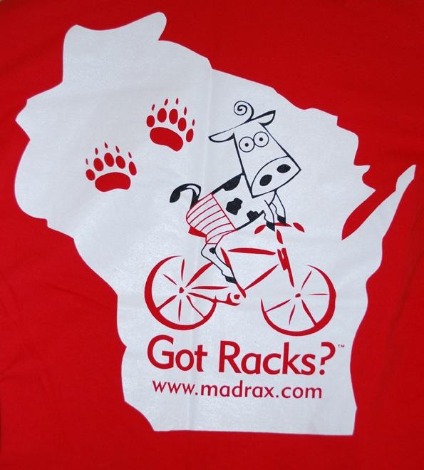Madrax Bicycle Parking Got Racks T-shirts Wisconsin.