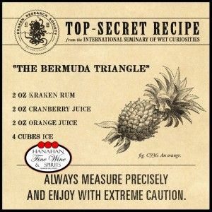 The bermuda triangle mix kraken black spiced rum for Best alcohol to mix with cranberry juice