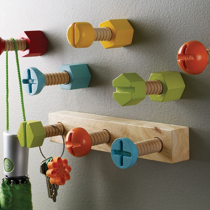 Design ideas wall mounted hardware hook wall mounted for Kids room hooks
