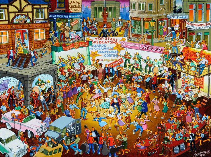 People Dancing to Bands, Sheffield Joe Scarborough