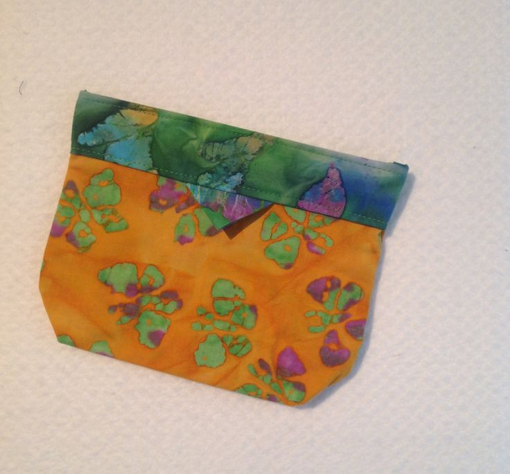 Bag, Clutch, Purse, Click -it Bag, Tote Bag, Cosmetic Bag, Gift, Orange Green and Purple Butterflies Batik by AlidanCreations on Etsy
