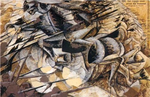 Boccioni, Carica di lancieri (1915)