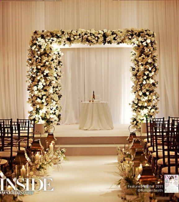 Indoor Wedding Altar Decoration Ideas: 25+ Best Ideas About Indoor Wedding Arches On Pinterest