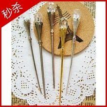 Atacado Exclusivo serviço de mesa do vintage da moda de aço inoxidável de frutas fruta garfo sinal sobremesa caneca-up(China)