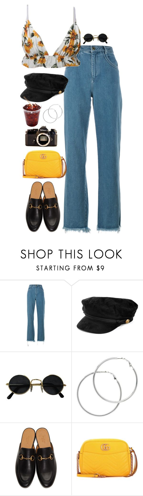 """""""but i keep on coming back to you"""" by stylesxgucci ❤ liked on Polyvore featuring Chloé, Melissa Odabash, Gucci and Nikon"""