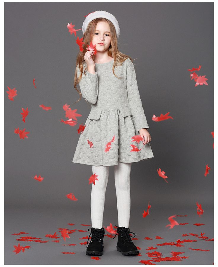2018 Latest Model Baby Clothes Beautiful Cotton Kids Dresses Long Sleeve Winter Baby Girl Birthday Dresses