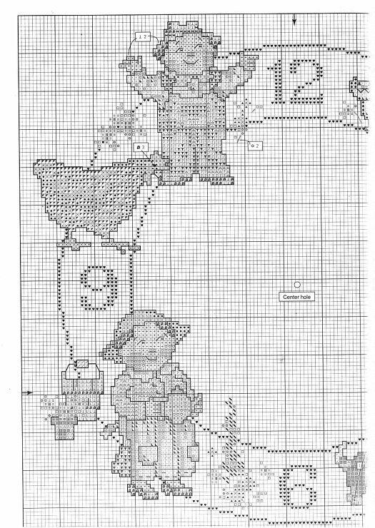 Cross-stitch Time Pieces ~ Little Moments Clock, part 2..  color chart on part 3