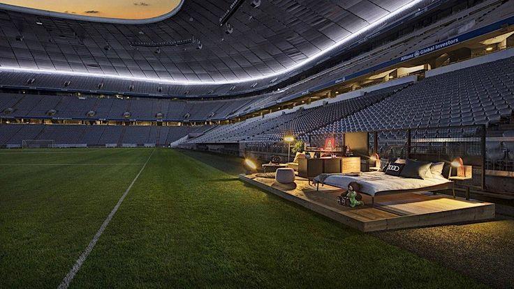Airbnb verlost eine Nacht in der Allianz Arena  Bekanntermaßen ist der Fußball der Spitzenreiter unter den beliebtesten Sportarten in Deutschland. Der Club mit den meisten Fans hierzulande ist d...
