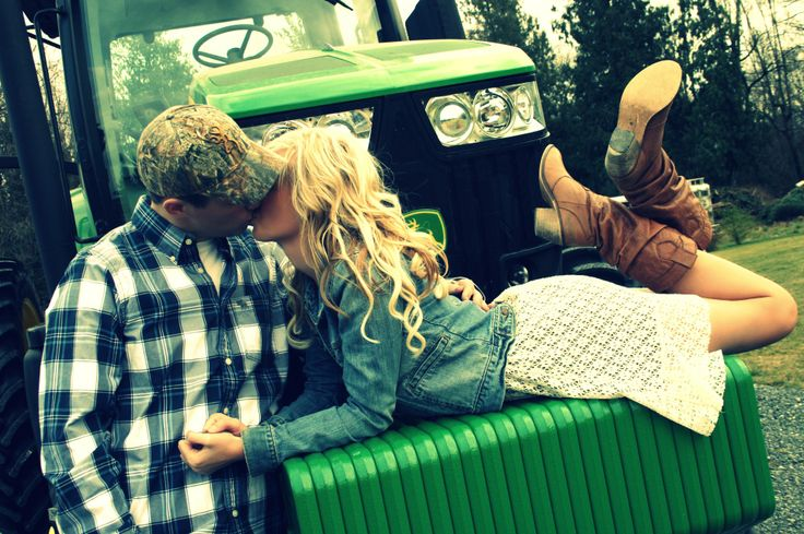 engagement on the tractor=love