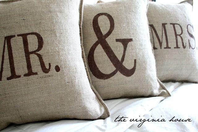DIY Burlap Pillows.
