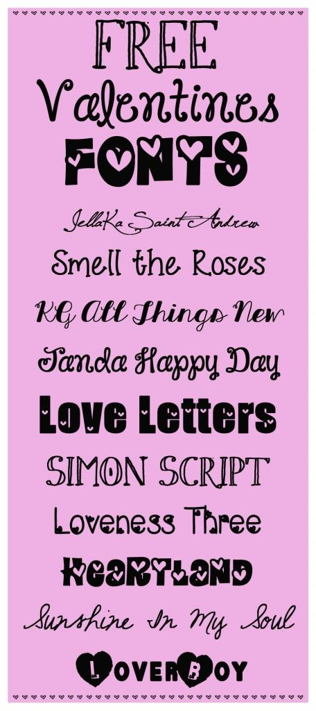 valentine fonts for mac