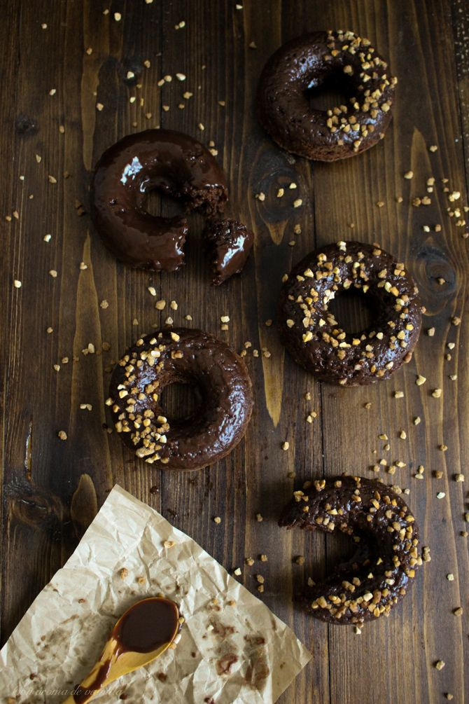 Donuts de Nutella con Nutella (al horno) | Con aroma de vainilla