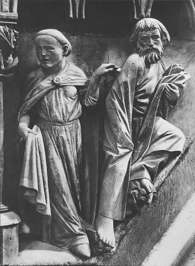 GOTHIC SCULPTOR, German, Peter's Renunciation, c. 1250, Stone, Cathedral, Naumburg