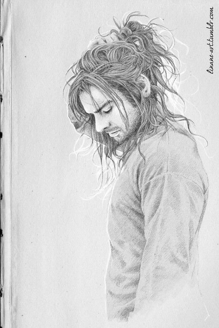 Cute hair :-) ~ linane-art: The Miles Between Us (Heirs of Durin by Constructedmadness 3 days, 15 layers - a quick autumny sketch <3)