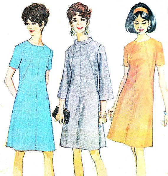 1960s Dress Pattern McCalls 9268 Mod A Line Day or by paneenjerez, $14.00