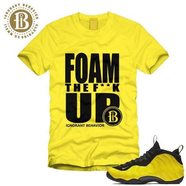 premium selection f1c8d 09e7e shirts match fomaposite optic yellow wu tang foams