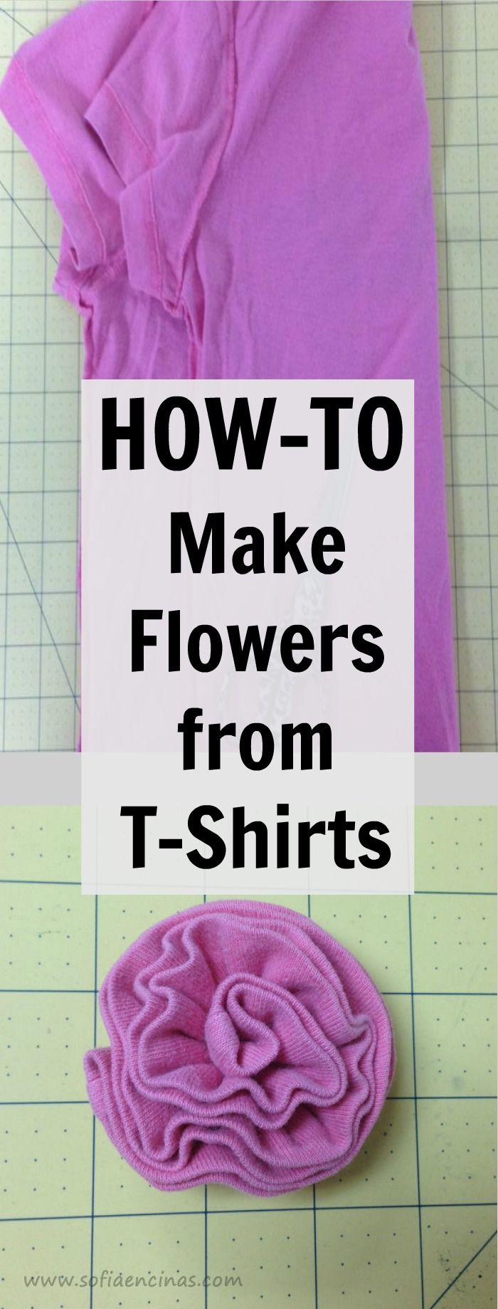 This is a fun craft to make from old t-shirts ~ it would be fun to make in a rainbow of colors.