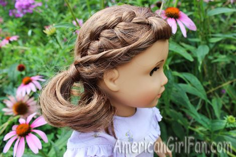 American girl doll hairstyle crown braided pigtails