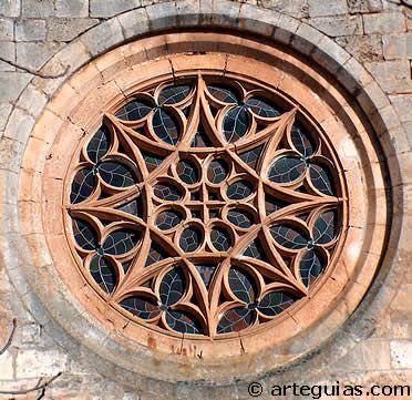 Rosetón gótico de la Colegiata de Covarrubias