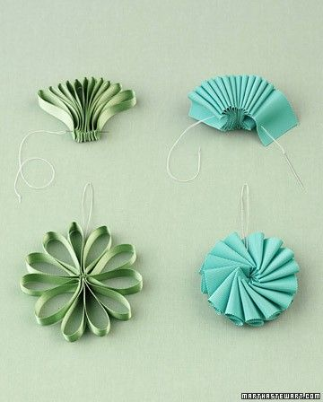 Here's a simple ribbon ornament tutorial. Go ahead, make it and hang it on your tree this year!  via  Martha Stewart   I've also been told t...