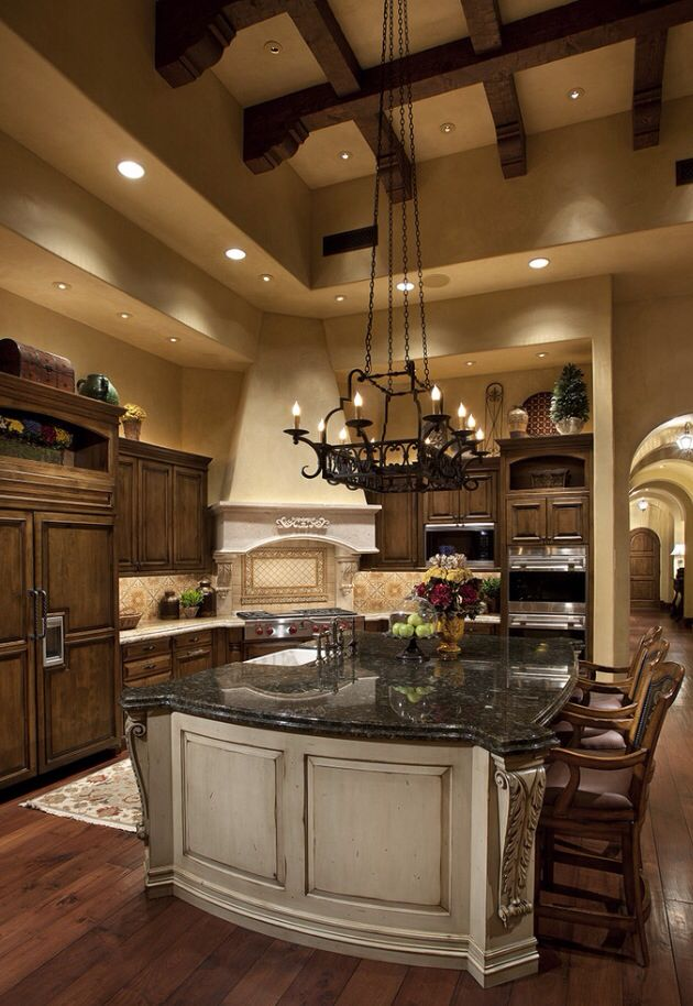 Kitchenceilings beams tuscan kitchens dreams kitchens for Mediterranean style kitchen photos