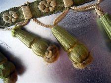 Антикварная французская отделка шелк passementery кисточки 136 дюймов (примерно 345.44 см) для подушек, сумок