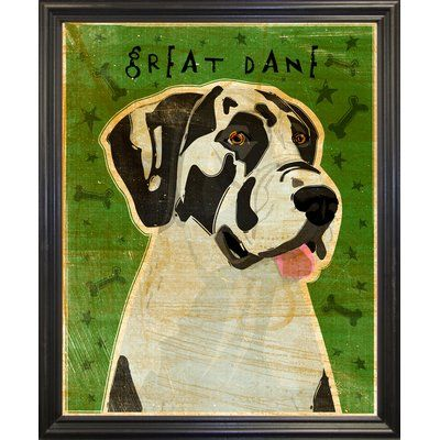 East Urban Home Harlequin Great Dane No Crop Graphic Art Print