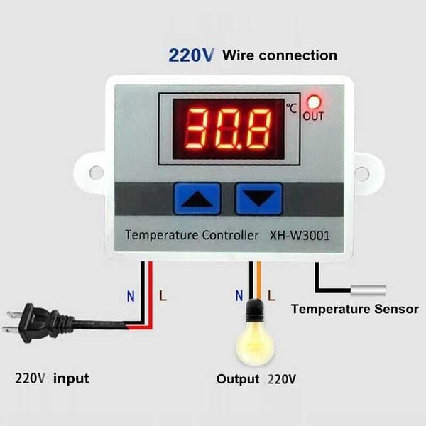 12 220v Digital Led Temperature Controller 10a Thermostat Control Switch Probe Size 6 4 5 3 1 Cm Color White Cool Things To Buy Digital Temperature Measurement