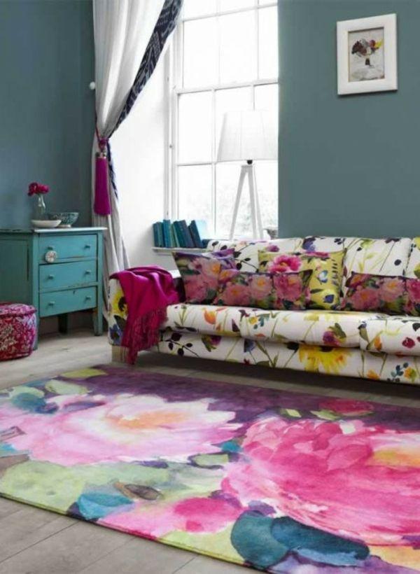 Die besten 25+ Bunte Teppiche Ideen auf Pinterest Kelims, kleine - teppich wohnzimmer bunt