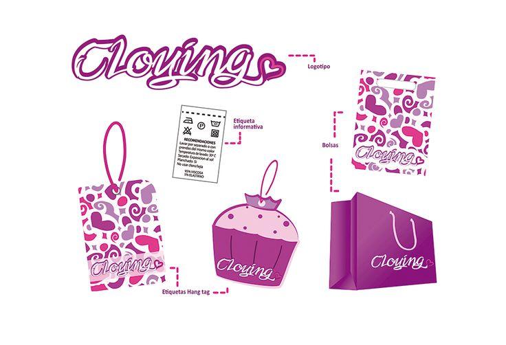 Elaboración de logotipo, hangtag, etiqueta informativa, bolsas shopping (papel y plásticas)