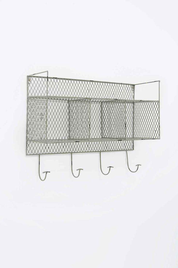 Metal Wall Shelf in Grey