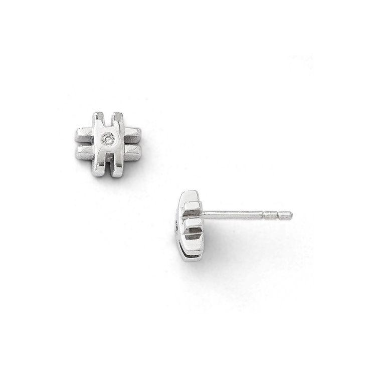 SS White Ice .02ct. Diamond Cross Earrings