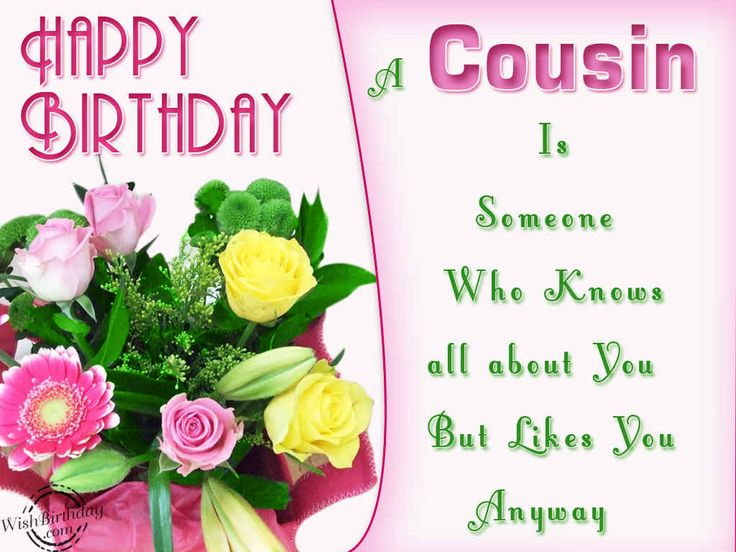 happy birthday to my cousin wishes quotes photos | Birthday Wishes for Cousin - Birthday Images, Pictures