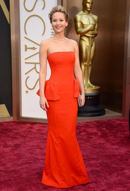 Jennifer Lawrence in Christian Dior (Oscars 2014)