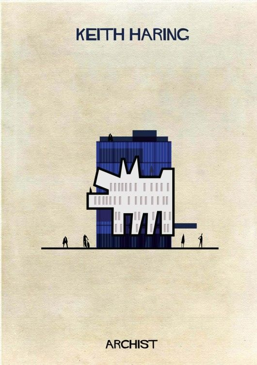 Illustrations of Famous Art Reimagined as Architecture | © Federico Babina