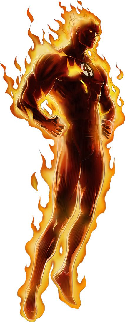 Human Torch - Marvel Comics - Fantastic Four - Johnny Storm