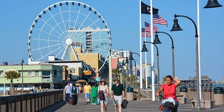 There are several great hotels near the Myrtle Beach Boardwalk!