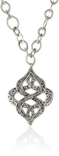 """LOIS HILL """"Endless Knot"""" Knot Pendant Necklace Lemon Chain Necklace LOIS HILL. $328.00. Made in Indonesia. Our most classic pairing, Granulation and our Hand Carved Scroll, will guarantee your jewelry to be noticed. Our mission at Lois Hill Accessories is to bring cultural and artistic richness to your life - one piece of jewelry at a time. This necklace will stand out in any room, get ready to demand attention. This necklace will stand out in any room, get ready ..."""