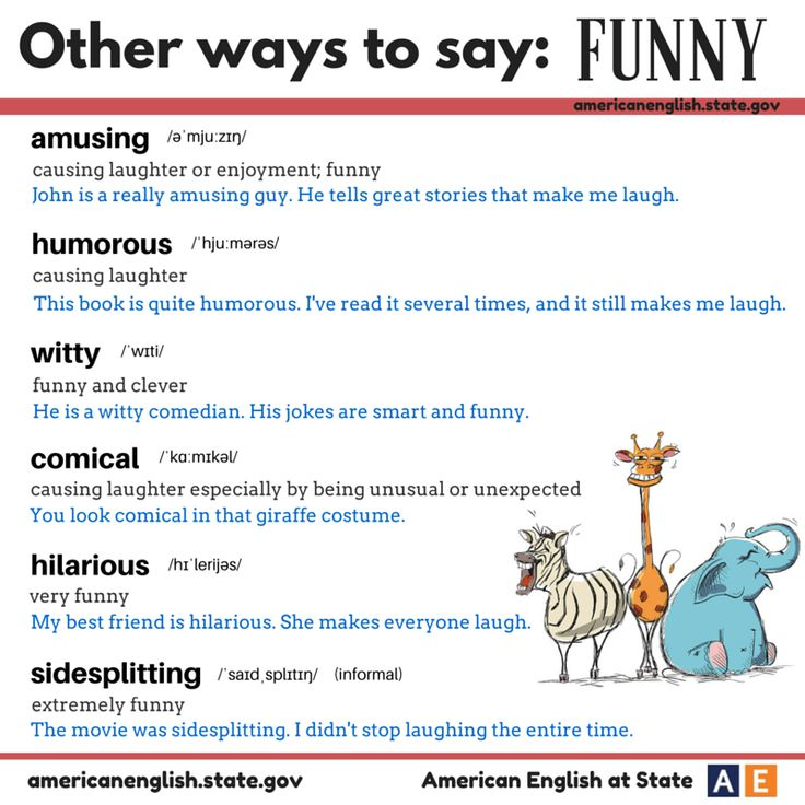 "Other ways to say ""Funny"""