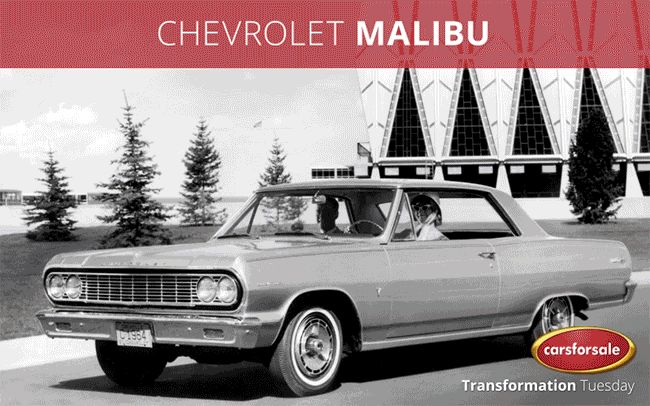 Since it's beginnings as the Chevelle Malibu trim and later as its own model, the Chevrolet Malibu has been a staple in the Chevrolet line-up for 9 generations. #TransformationTuesday Find yours! https://www.carsforsale.com/chevrolet-malibu-for-sale-C999008